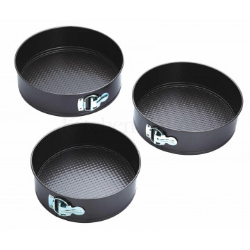 Pack 3 moldes redondos desmoldables Kitchen Craft