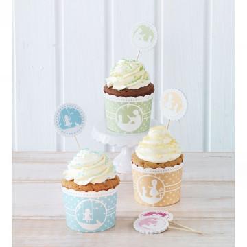 Set para cupcakes: Vintage Memories