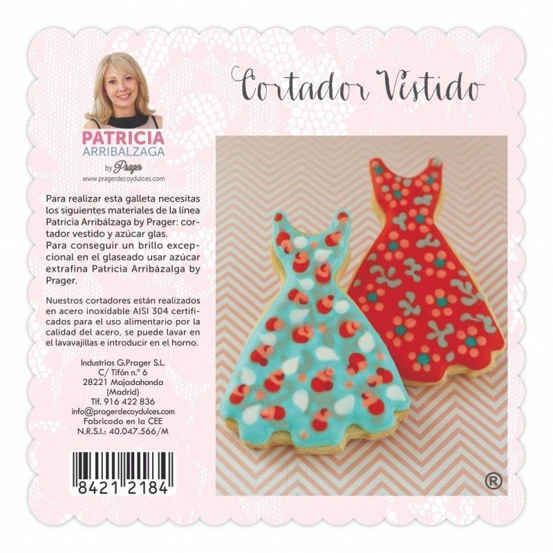 Cortante de galleta vestido Patricia Arribalzaga