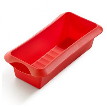 Molde rectangular 24 cm rojo Lékué
