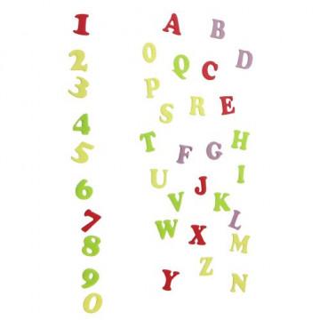 Alfabeto Mayúscula y números Art Deco FMM
