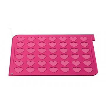 Tapete de silicona + Mangas  para Macarons Corazón SLK