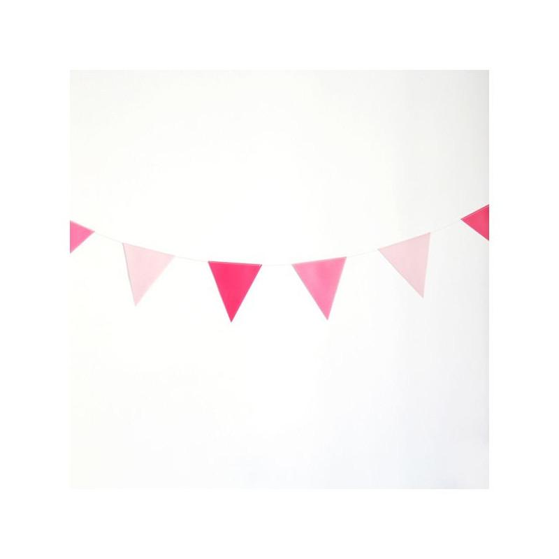 Banderolas Guirnaldas tonos rosa