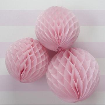 Bolas nido de abeja Rosa