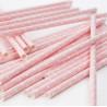 Pajitas de papel Lunares Rosa Pastel