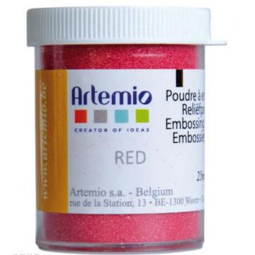 Polvo embossing Rojo