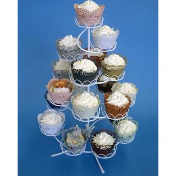 Stand presentación cupcakes Blanco Vintage Romantic PME