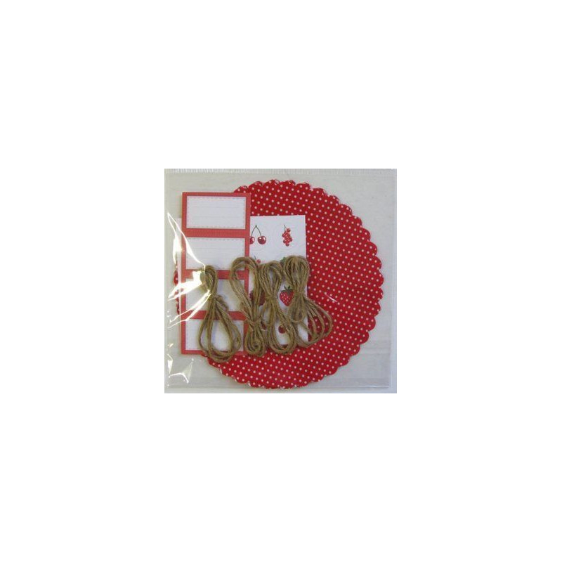 Kit para mermelada Lunares Rojo