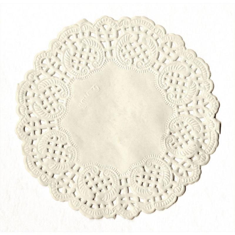 Tapete de papel 20 unidades Blanco 9 cm