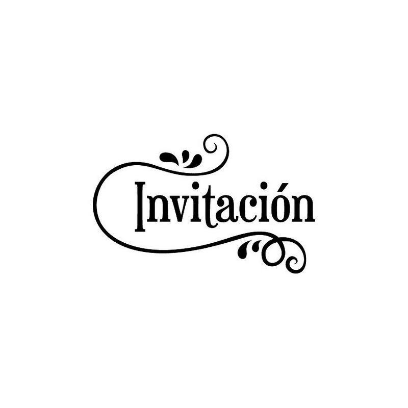 Sello de Madera Invitación