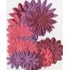 Flores de papel tonos Rojos