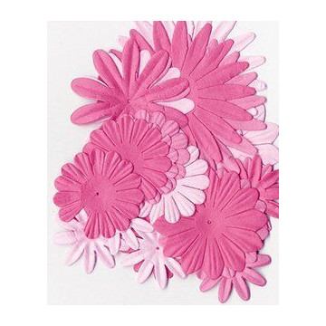 Flores de papel tonos Rosas