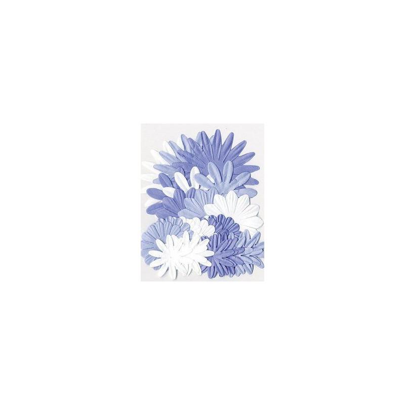Flores de papel tonos Azules