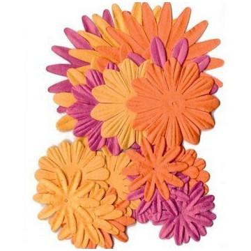 Flores de papel tonos Naranja