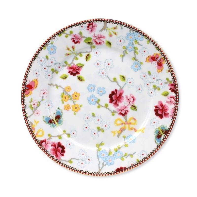 Plato de cerámica de postre 21 cm Chinese Rose Blanco PIP Studio