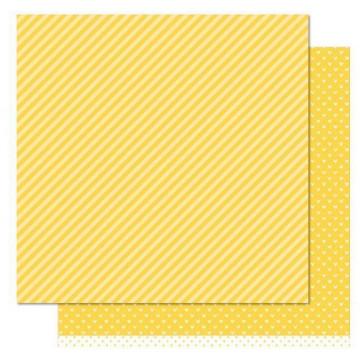 Papel doble cara Rayas Amarilla