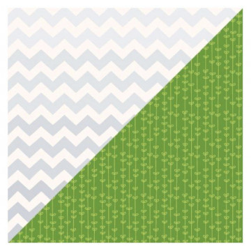 Papel doble cara Silver Chevron