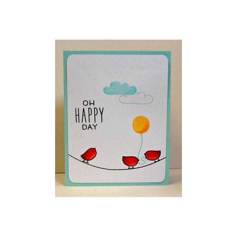 Set sellos transparentes Oh Happy Day