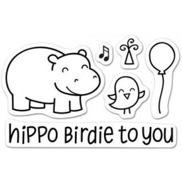 Set sellos transparentes Hippo Birdie