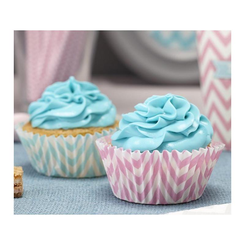 Capsulas cupcakes Chevron Pastel
