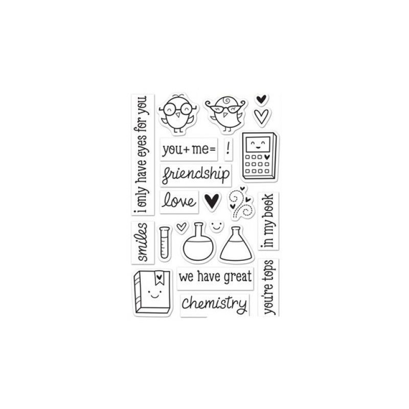 Set sellos transparentes Ciencia Amor