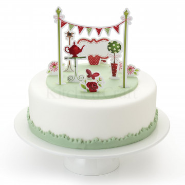 Topper para tarta Jardín Secreto