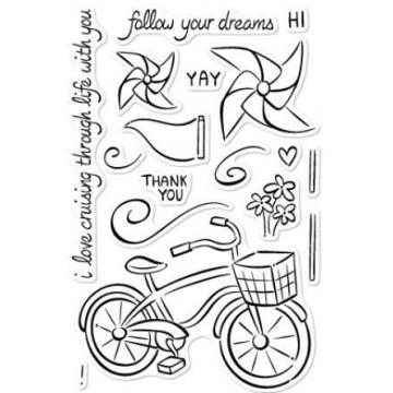 Set sellos transparentes Bicicletas y Molinillos