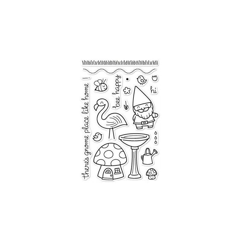 Set sellos transparentes Gnomo Dulce Gnomo