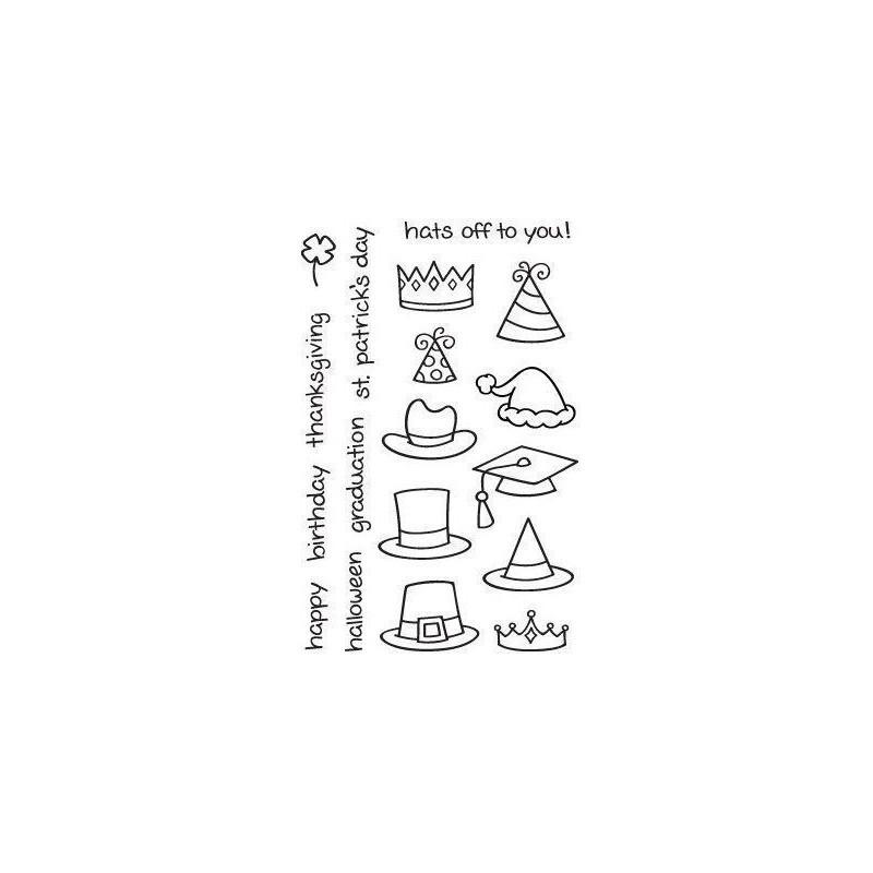 Set sellos transparentes Sombreros