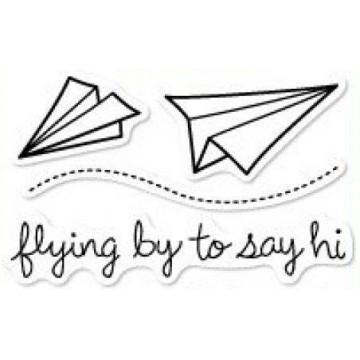 Set sellos transparentes Volando