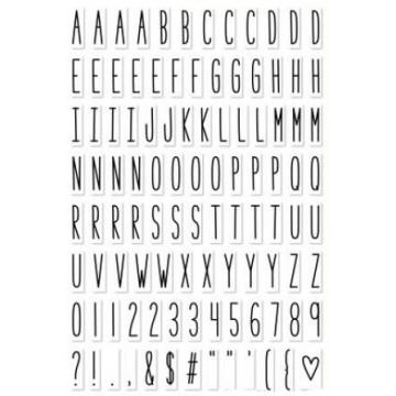 Set sellos transparentes Alfabeto Milos