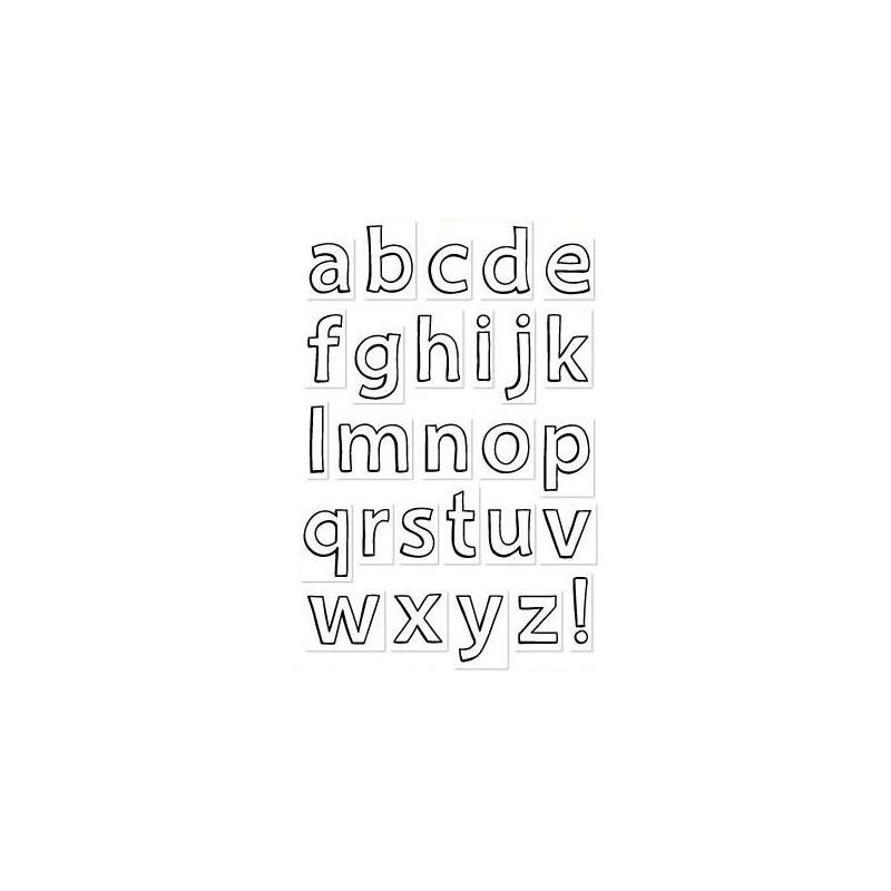 Set sellos transparentes Alfabeto Minúscula Grande Quinns