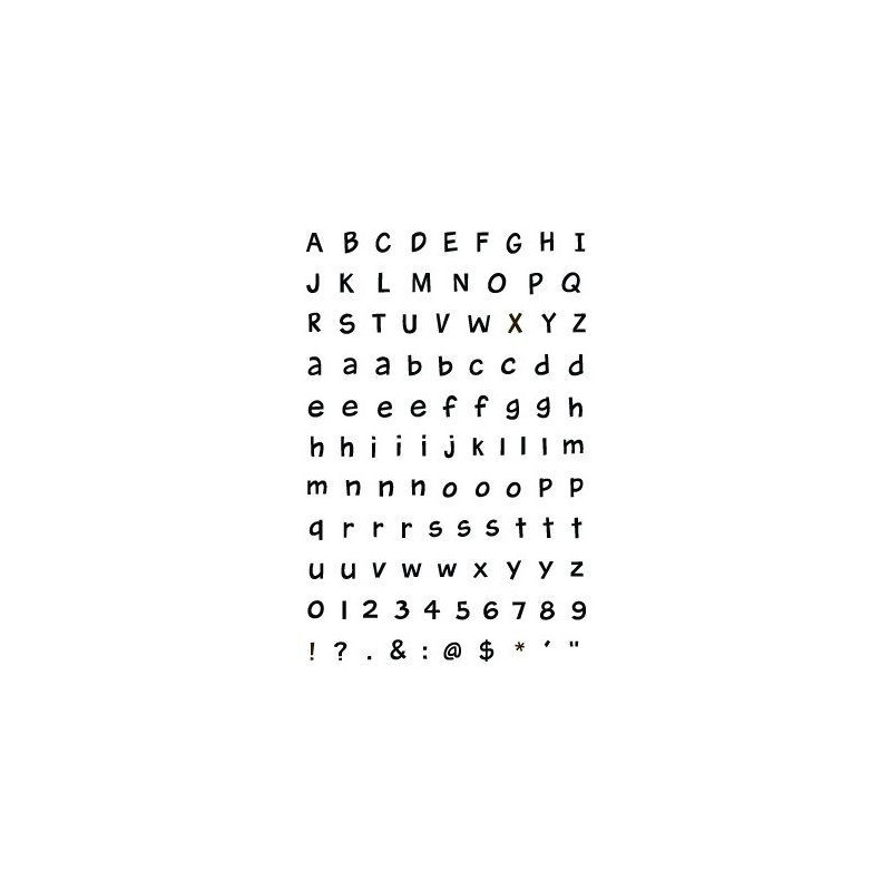Set sellos transparentes Alfabeto Harolds