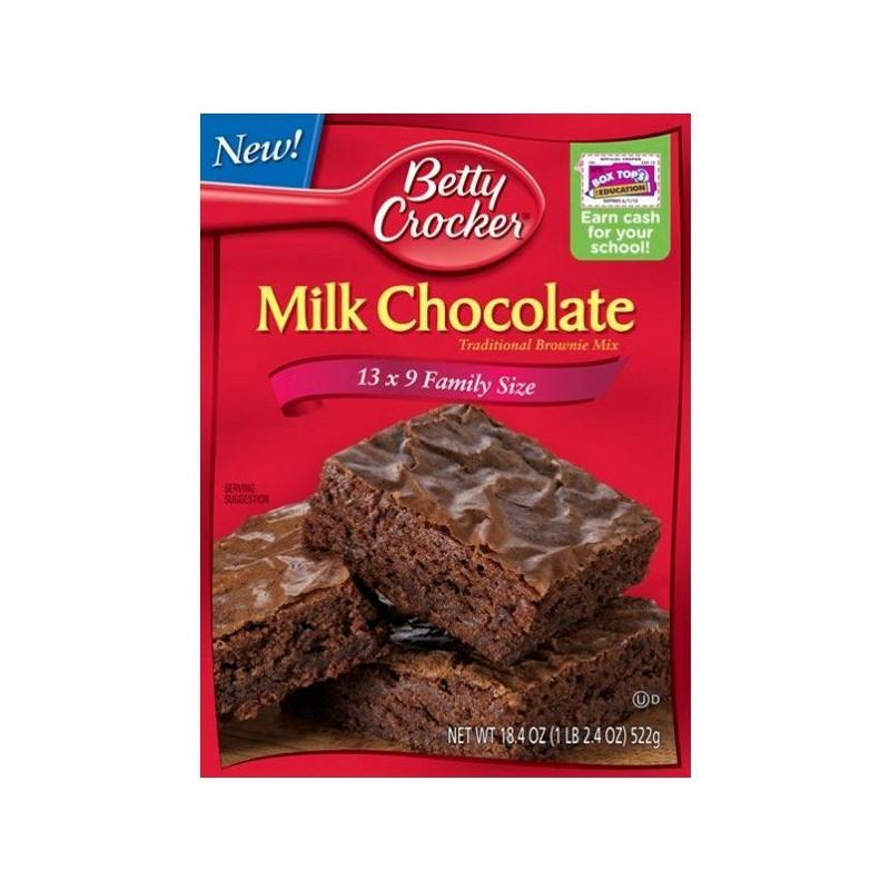 Preparado para Brownie Chocolate con Leche Betty Crocker.