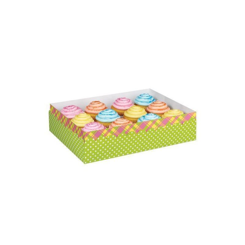 Caja presentación para 12 cupcakes Pascua Wilton