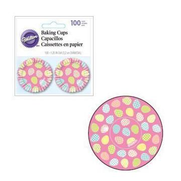 Cápsulas cupcakes mini Rosa con Huevos de Pascua Wilton
