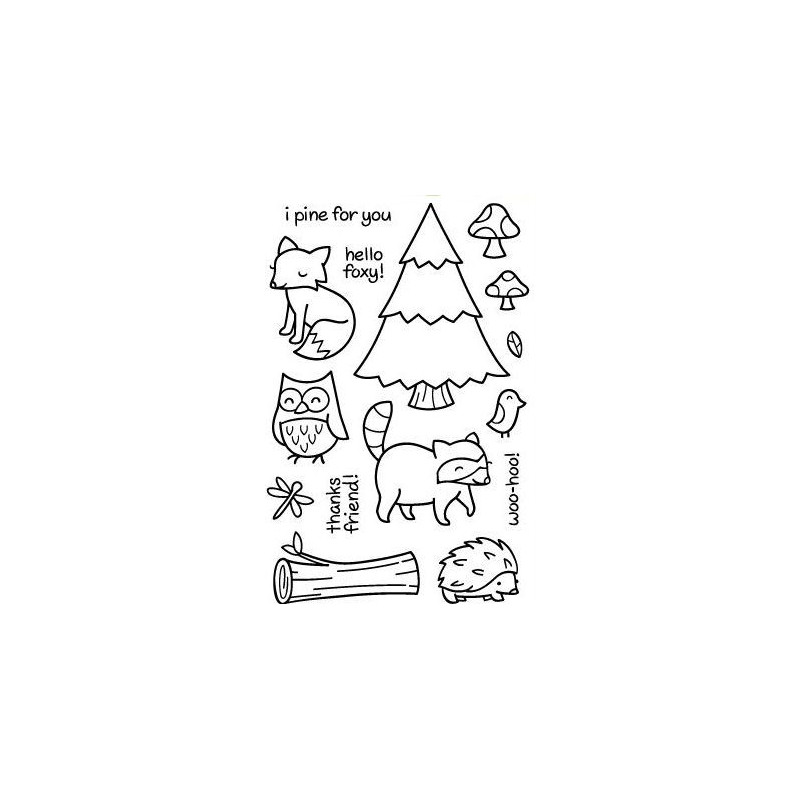 Set sellos transparentes En el bosque 2