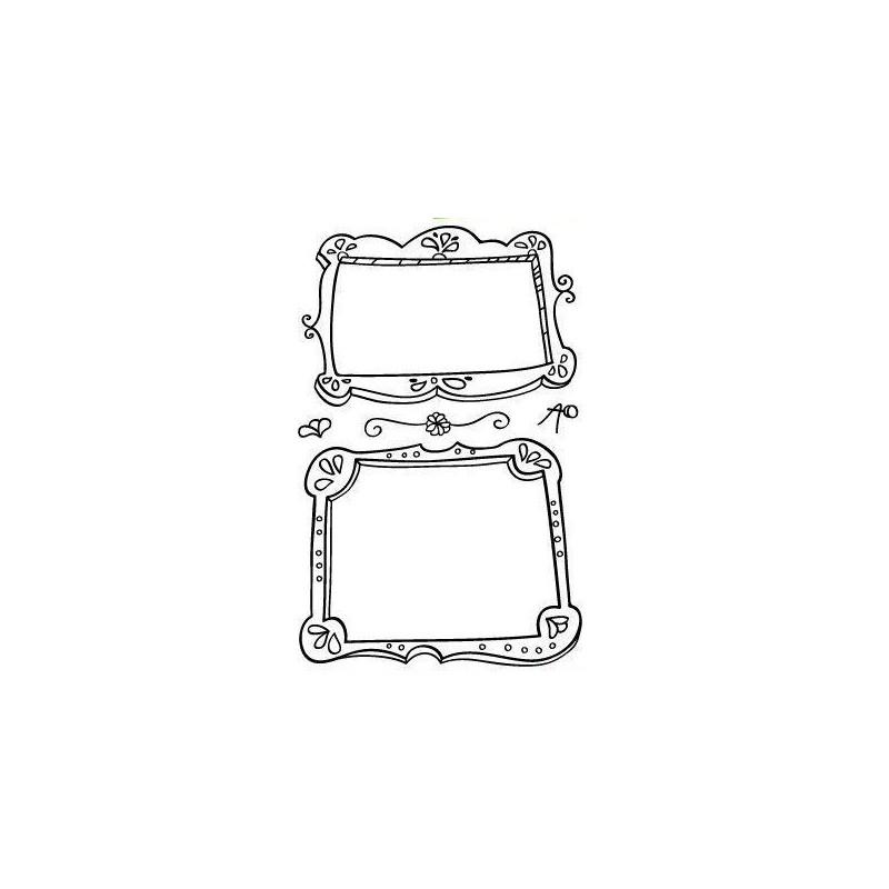 Set sellos transparentes marcos - Marcos transparentes ...