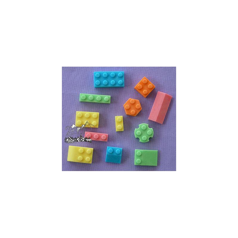 Molde silicona Piezas de Contrucción