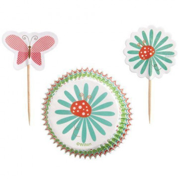 Set para cupcakes: Mordern Garden Party Wilton