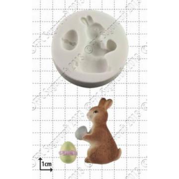 Molde silicona Conejo Pascua