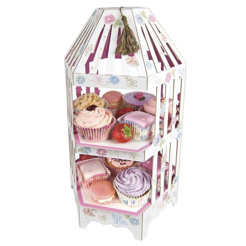 Stand presentación cupcakes pastelitos Amor al Atardecer
