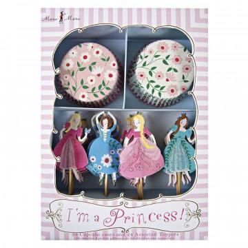 Set cupcakes + toppers Fiesta Yo soy Princesa