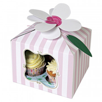 Pack de 3 cajas para 4 cupcakes Fiesta Yo soy Princesa