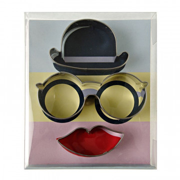Cortante pack 3 cortantes Hat, Glasses & Lips