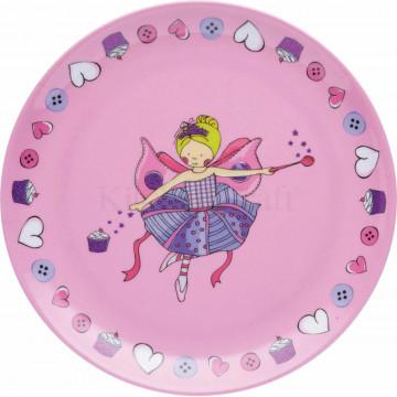 Plato de melamina 20.5 cm Hadas Princesas