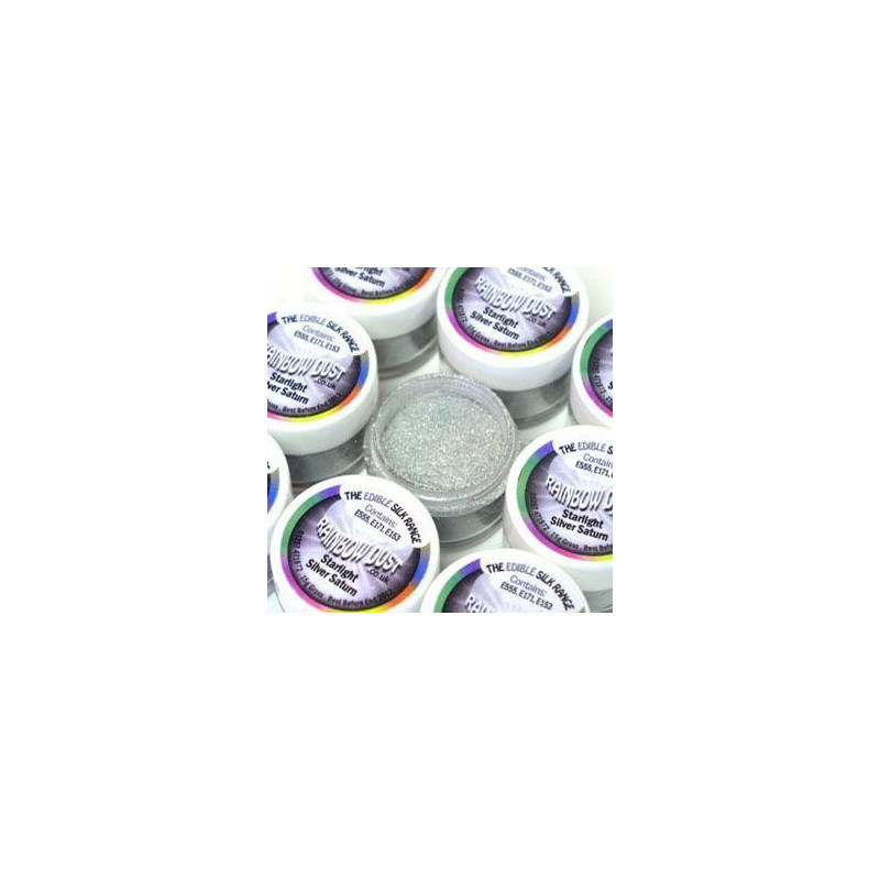 Polvos de brillo Starlight Silver Saturn Rainbow Dust