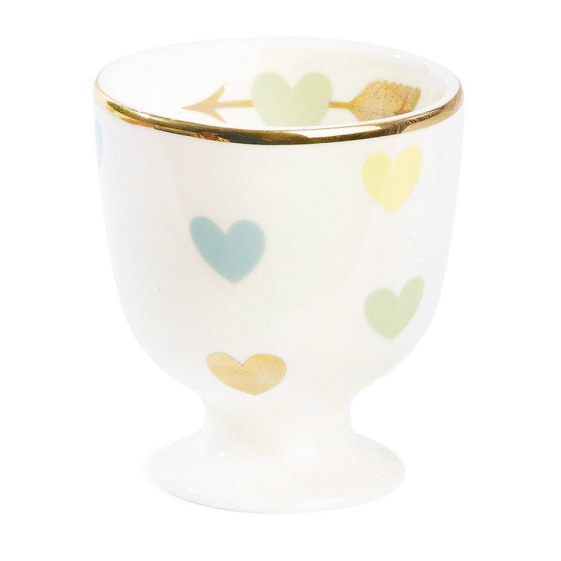 Huevera cerámica Multi Corazones Pastel