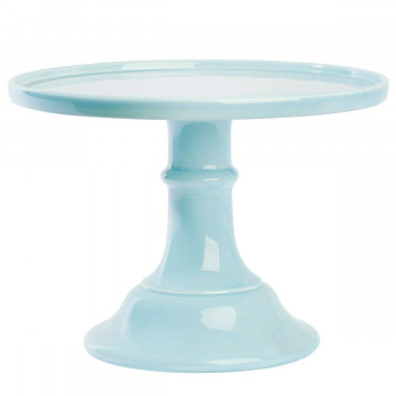 Cake Stand Cerámica 25 cm Turquesa