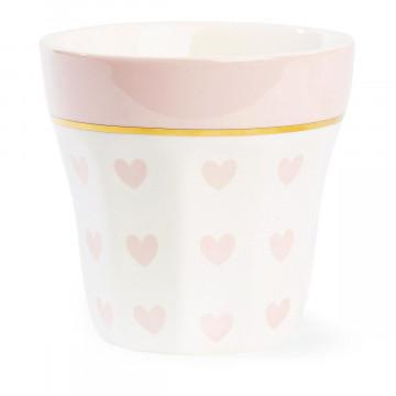 Tazón de leche Corazones Rosa